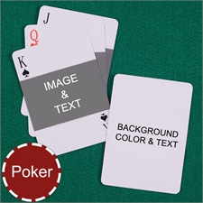 Poker Size Landscape Photo Personalized Message Custom 2 Sides Playing Cards