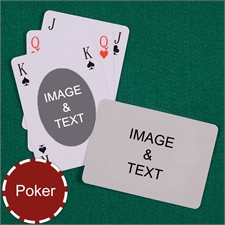 Poker Size Ovate Bridge Style Custom 2 Sides Landscape Back Playing Cards