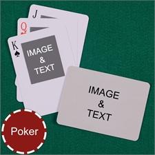 Poker Size Top Portrait Photo Custom 2 Sides Landscape Back