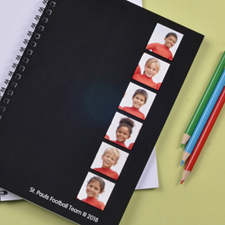 Create Your Own Black Six Collage Two Title Notebook