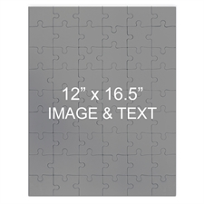 Personalized Magnetic 12X16.5 Portrait,285 Or 54 Piece Photo Puzzle