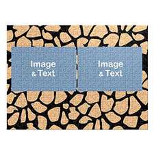 Two Landscape Photos, Giraffe Skin Pattern