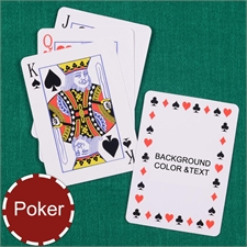 Personalized Poker Timeless Standard Index Playing Cards