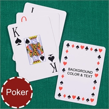 Personalized Poker Timeless Jumbo Index Playing Cards