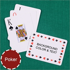 Personalized Poker Size Timeless Jumbo Index Landscape Playing Cards
