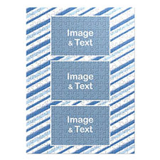 Three Collage Portrait Puzzle, Watercolor Stripes