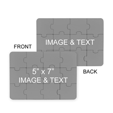 Custom 5X7 Custom 2 Sides Invitation Puzzle