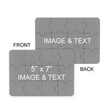 Custom 5X7 Custom 2 Sides Invitation Puzzle