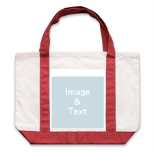 Classic Photo Personalized Tote Bag, Red