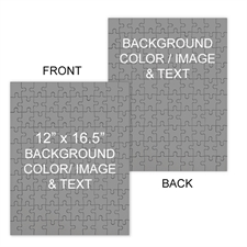 Personalized Custom 2 Sided Background Color & Text Portrait 12X16.5, 285 Or 54 Piece Photo Puzzle