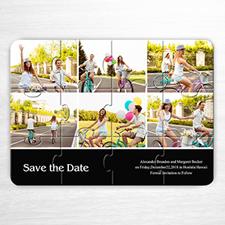 Custom Black Six Collage Invitation Puzzle