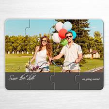 Custom Save The Date Puzzle, Unique Love Grey Invitation Puzzle