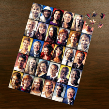 Personalized Facebook Black 30 Collage 12X16.5 Photo Puzzle