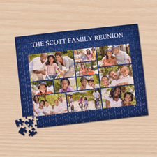 Personalized Facebook Navy 11 Collage 12X16.5 Photo Puzzle