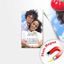 Create Calendar Save The Date Portrait 2x3.5 Card Size Magnet