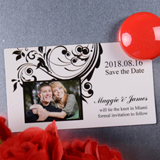 Announcing Save the Date Photo 2x3.5 Magnet