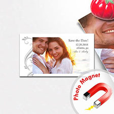 Create Big Celebration Save The Date Photo 2x3.5 Card Size Magnet