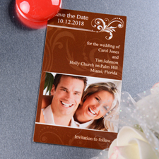 Create Blissful Save The Date Photo 2x3.5 Card Size Magnet