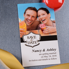 Create 2x3.5 Card Size Banner Save The Date Photo Magnets
