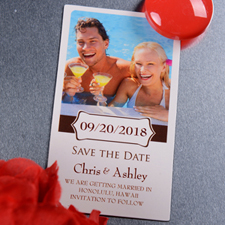 Bloom Save the Date Photo 2x3.5 Magnet