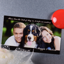 Our Memories Save the Date Photo 2x3.5 Magnet