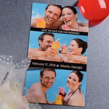 Create Mr. & Mrs. Save The Date Magnet Photo 2x3.5 Card Size Magnet