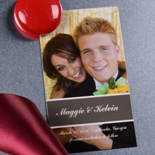 Perfect Pair Save the Date Photo 2x3.5 Magnet