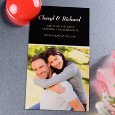 Joined Initials Save the Date Photo 2x3.5 Magnet