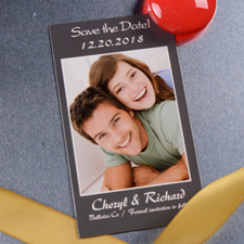 Modern Save the Date Photo 2x3.5 Magnet