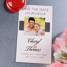 Create Simply Ours Save The Date Photo 2x3.5 Card Size Magnet