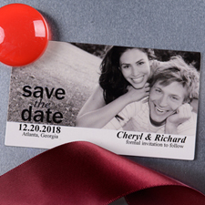 Picture Us Save the Date Photo 2x3.5 Magnet