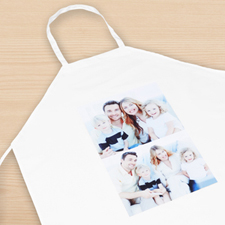 Two Portrait Collage Personalized Adult Apron