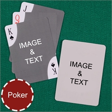 Poker Size Decorative Corners Custom 2 Sides