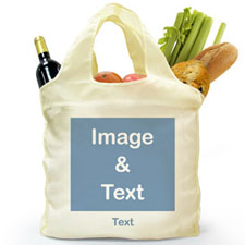 Personalized Folded Shopper Bag, Square Image