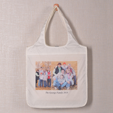 Personalized 2 Collage Shopper Bag, Elegant