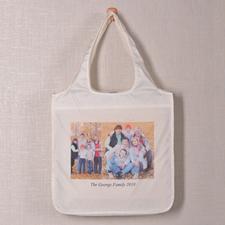 Personalized 2 Collage Shopper Bag, Elegant