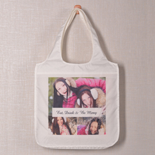 Personalized 3 Collage Shopper Bag, Snapshots