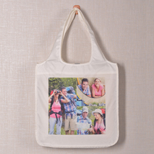 Personalized 3 Collage Folded Shopper Bag, Contemporary
