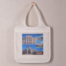 Personalized 5 Collage Folded Shopper Bag, Modern