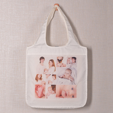 Personalized 9 Collage Folded Shopper Bag, Classic