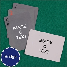 Bridge Size Playing Cards Simple Custom 2 Sides Landscape Back