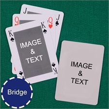 Bridge Size Playing Cards Bridge Style Custom 2 Sides