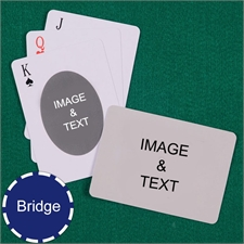 Bridge Size Playing Cards Ovate Custom 2 Sides