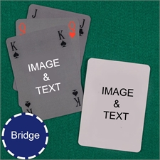 Bridge Size Playing Cards Classic Bridge Style Custom 2 Sides