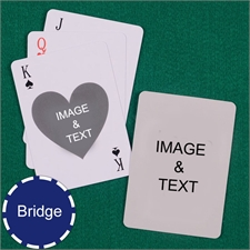 Bridge Size Playing Cards Heart Custom 2 Sides