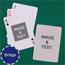 Bridge Size Playing Cards Centre Portrait Custom 2 Sides