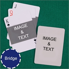 Bridge Size Playing Cards Landscape Photo Custom 2 Sides