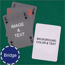 Bridge Size Playing Cards Simple Bridge Style Personalized 2 Sides