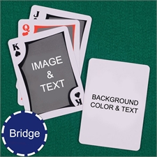 Bridge Size Playing Cards Modern Personalized 2 Sides