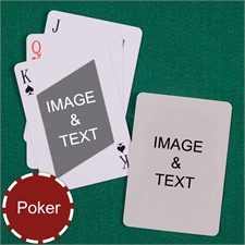 Personalized Poker Twist Custom 2 Side Playing Cards